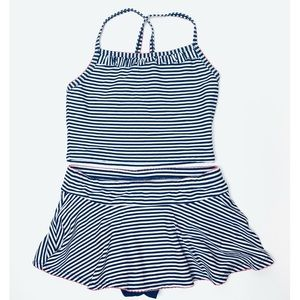 Hanna Andersson Skirted Tankini Two Piece Swimsuit
